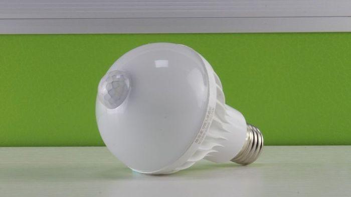 Лампа с датчиком движения, фото, цена