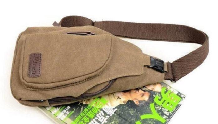 Мужской рюкзак через плечо